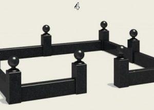 Гранитный вариант оградки